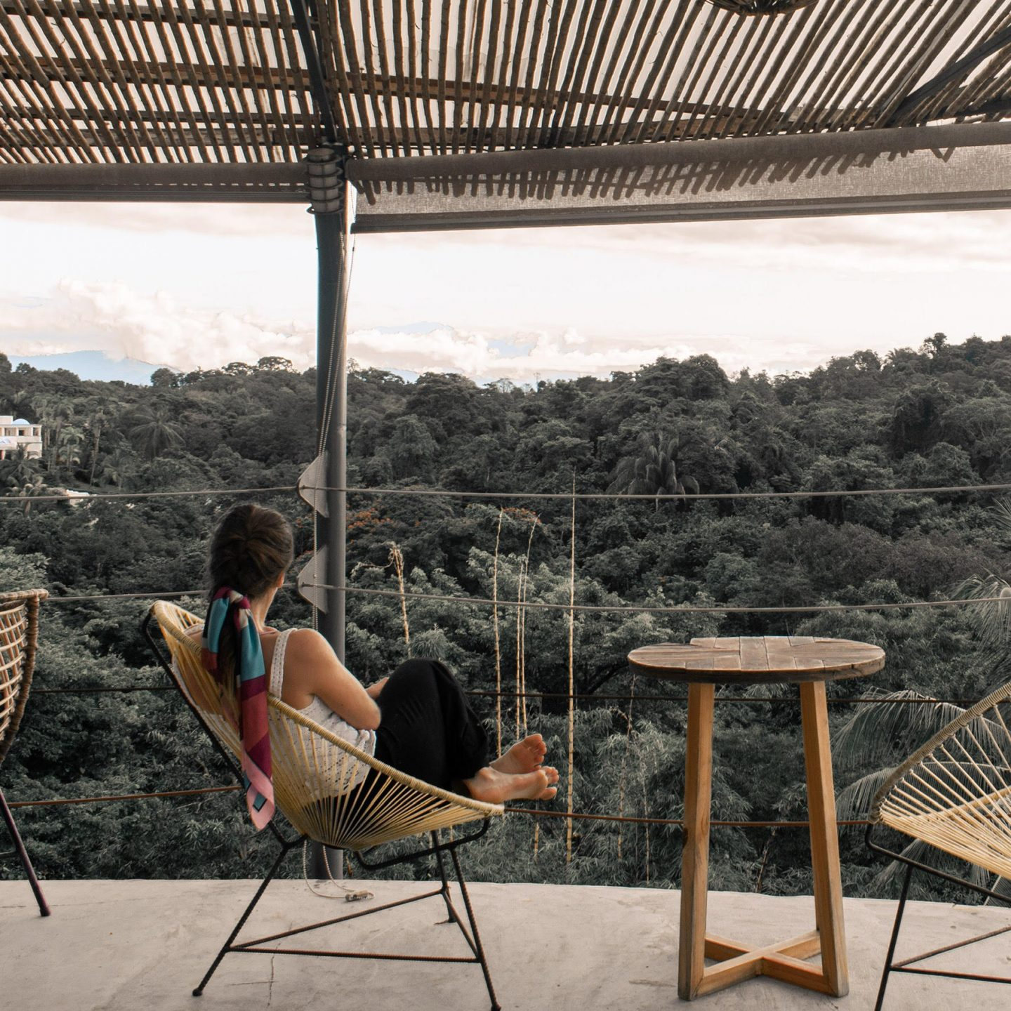 This is a photo of me relaxing at Selina Hotel in Manuel Antonio Costa Rica