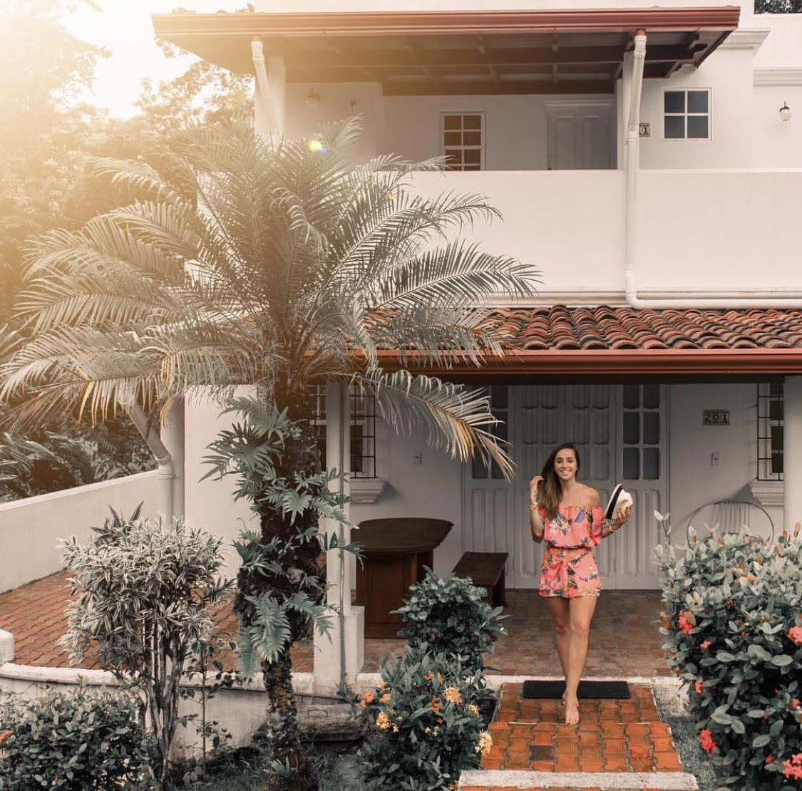 This is a photo of me in front of Selina Hotel in Manuel Antonio Costa Rica.