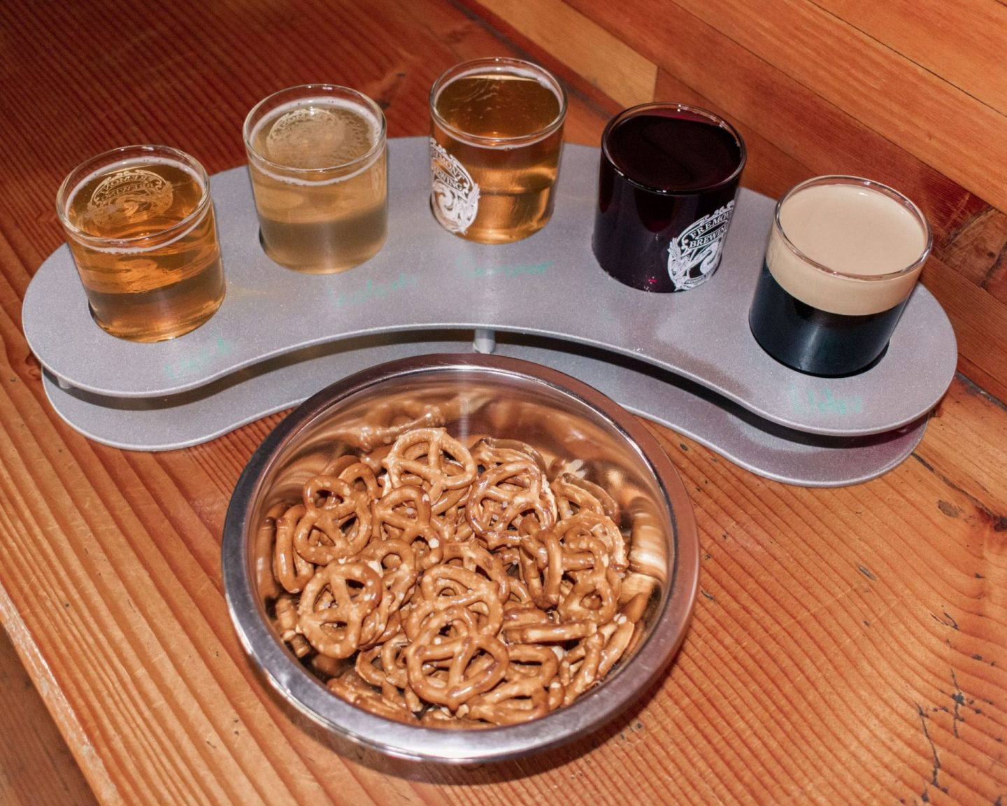 fremont brewery beer and pretzels