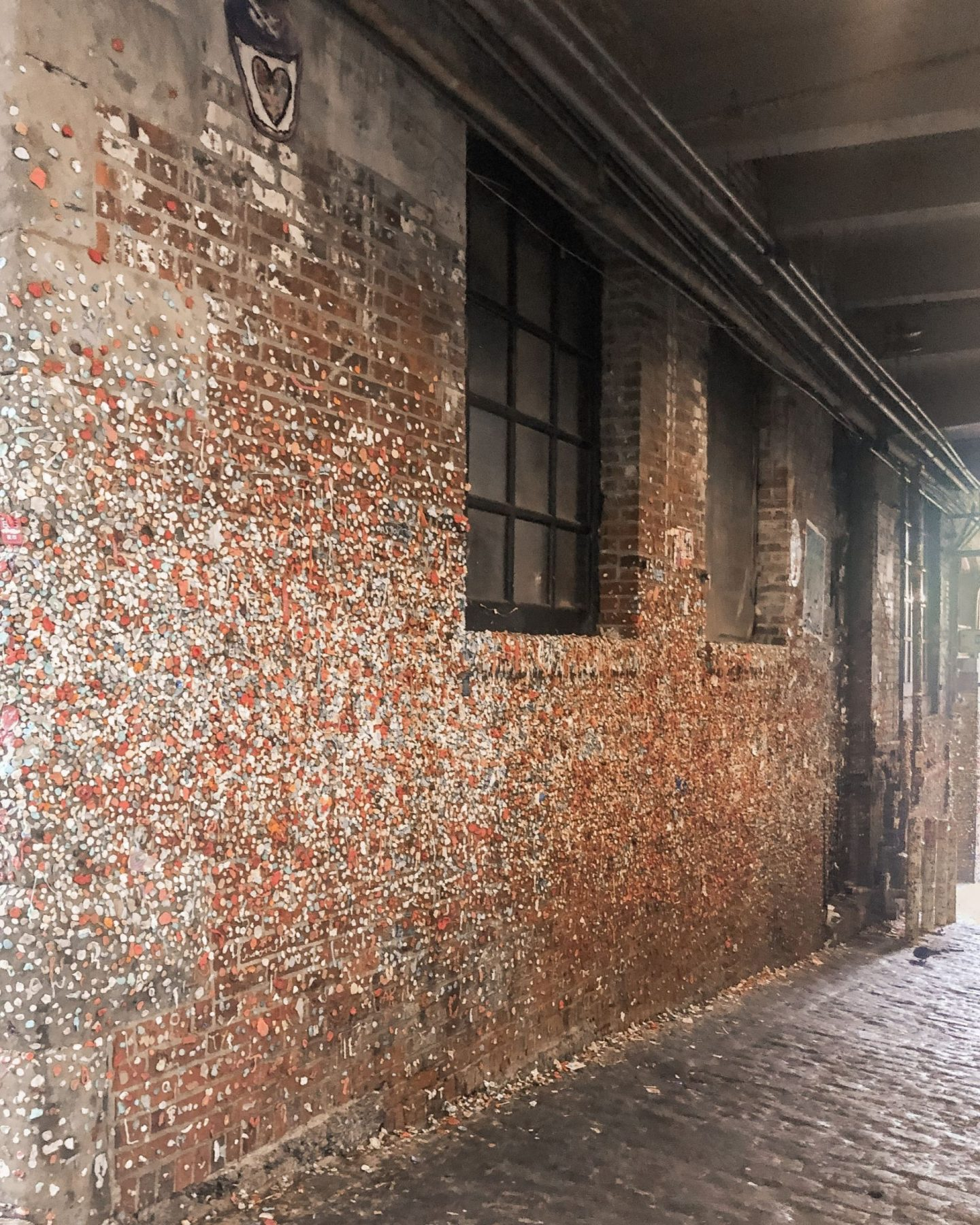 seattle gum wall filled with gum