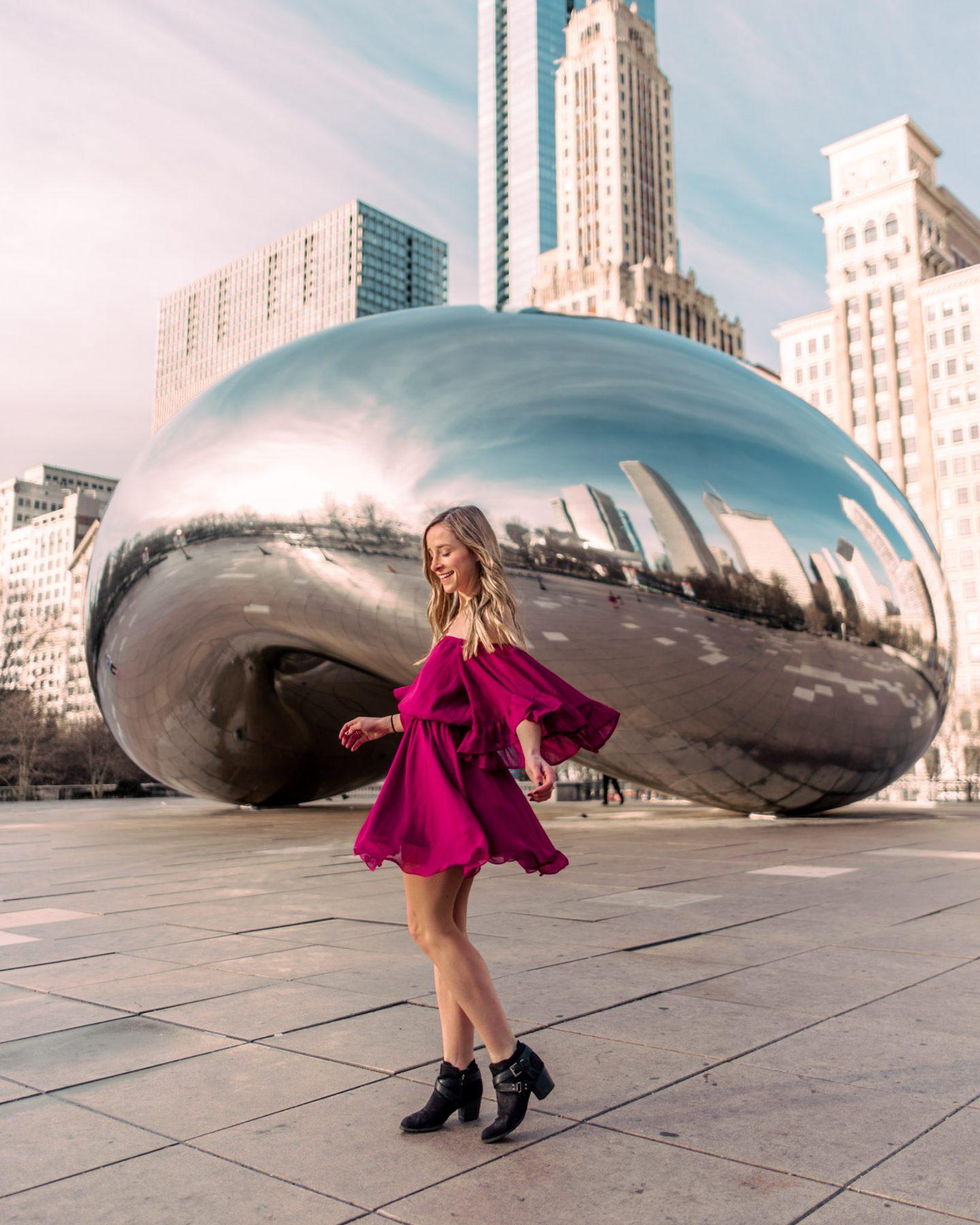 The chicago bean at Millennium Park