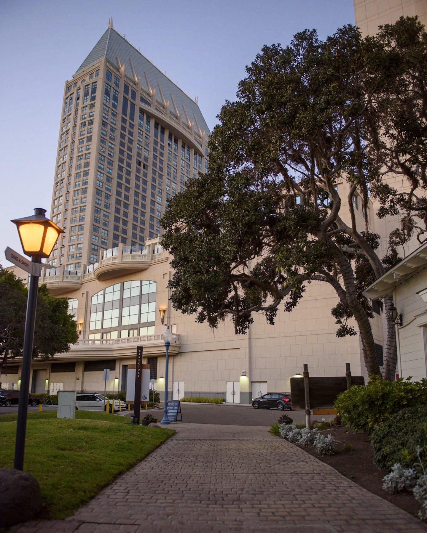 Grand Hyatt as seen from Seaport Village in San Diego