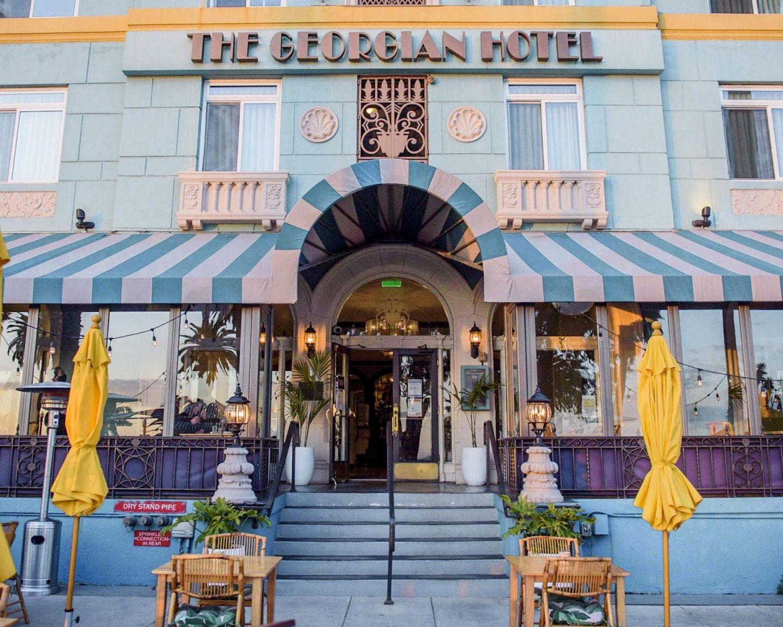 The front of the georgian hotel santa monica california