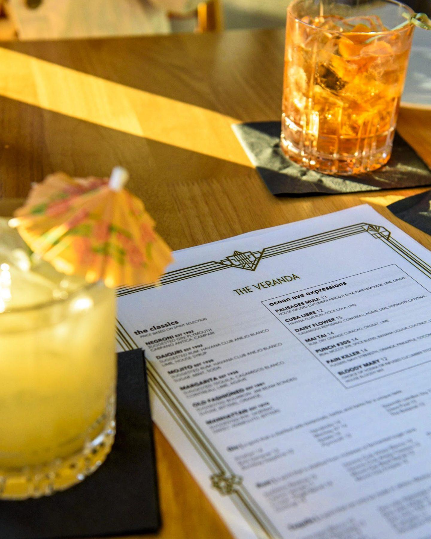 Cocktails at the Veranda Santa Monica