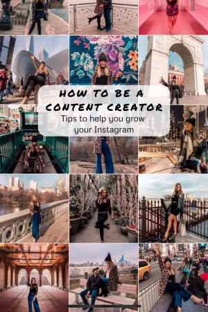 how to be a content creator pinterest graphic