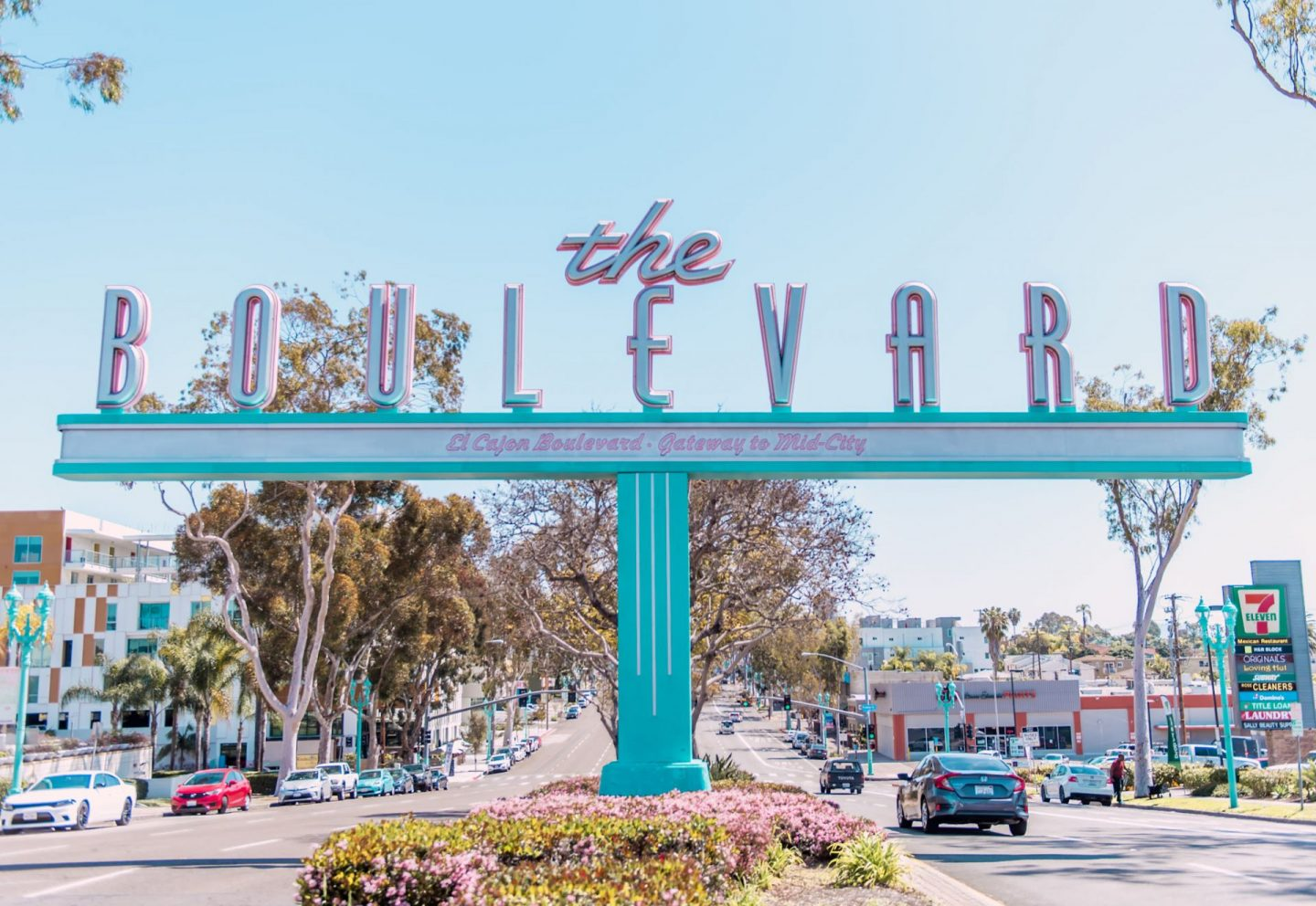 The boulevard sign in university heights san diego california