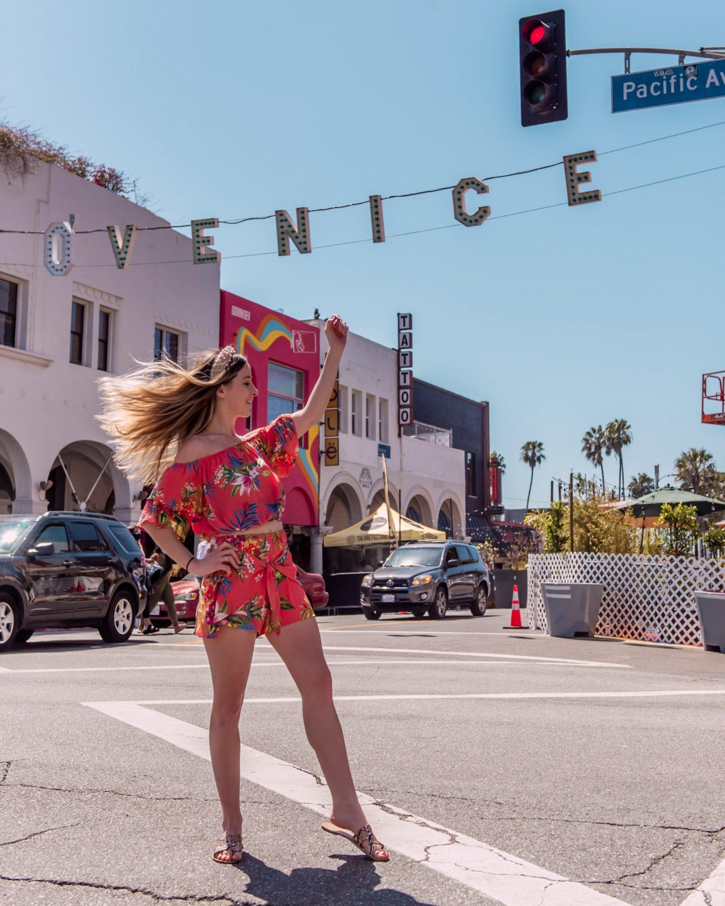 venice sign in venice beach california